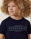 T-Shirt Navy Blue Boy Brunello Cucinelli