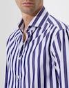 French Collar Shirt Blue Man Brunello Cucinelli