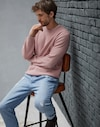Crewneck Sweater Pink Flamingo Man Brunello Cucinelli