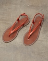 Flache Sandalen Orange Damen Brunello Cucinelli
