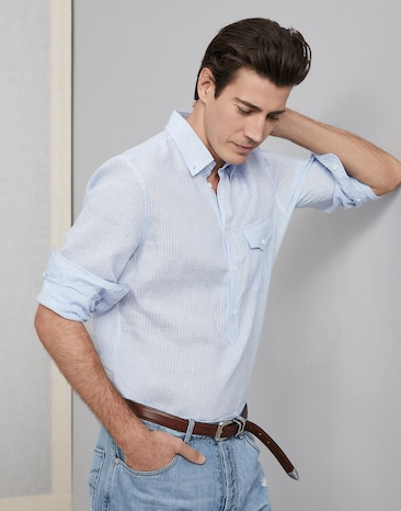 95e4ef48d18d Casual and dress shirts for men | SS19 | Brunello Cucinelli