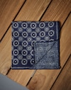 Pocket Square Prussian Blue Man Brunello Cucinelli