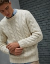 Crewneck Sweater Ecru Man Brunello Cucinelli