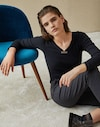 Long Sleeve T-Shirt Anthracite Woman Brunello Cucinelli