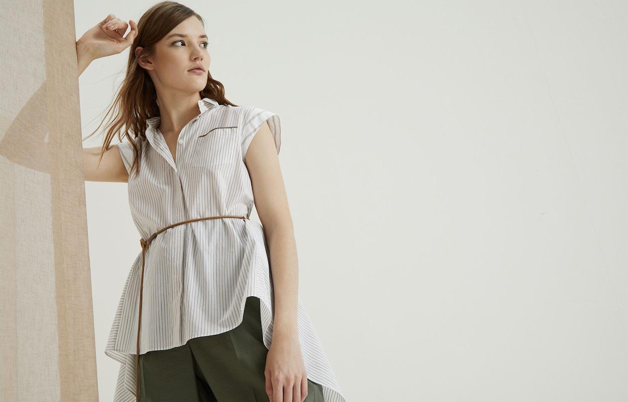 1582bbf4da821c Cotton Shirt Beige Woman Brunello Cucinelli Cotton Shirt Beige Woman Brunello  Cucinelli