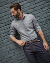 Denim Shirt Grey Man Brunello Cucinelli
