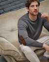 Crewneck Sweater Lead Man Brunello Cucinelli