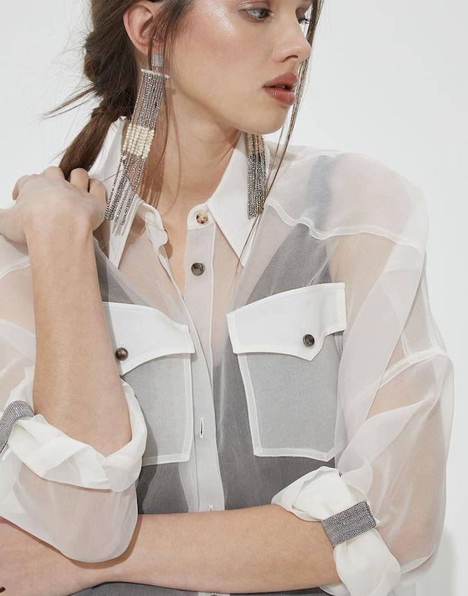 Seidenhemd Weiß Damen 3 - Brunello Cucinelli