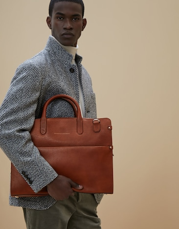 330c2ed57e08 Men's Bags and backpacks in leather | SS19 | Brunello Cucinelli