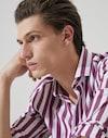 French Collar Shirt Purple Man Brunello Cucinelli