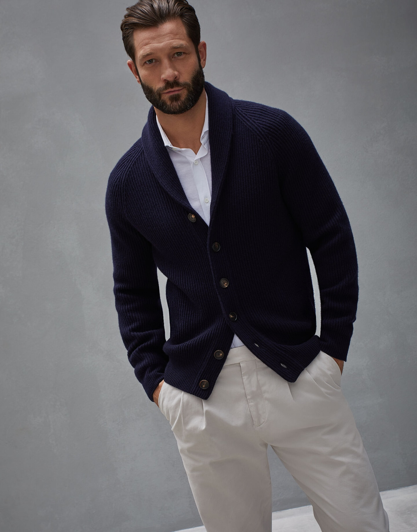 negozio del Regno Unito nuovo concetto soddisfare Cardigan con Collo Sciallato (182M2277916C242504) - | Brunello ...
