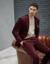 Suit Bordeaux Man Brunello Cucinelli