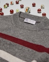 Crewneck Sweater Dark Grey Boy Brunello Cucinelli