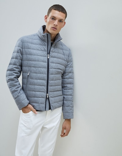 d5f558e7511 Down Jacket Light Grey Man 1 - Brunello Cucinelli