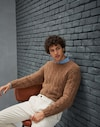 Crewneck Sweater Crumble Man Brunello Cucinelli