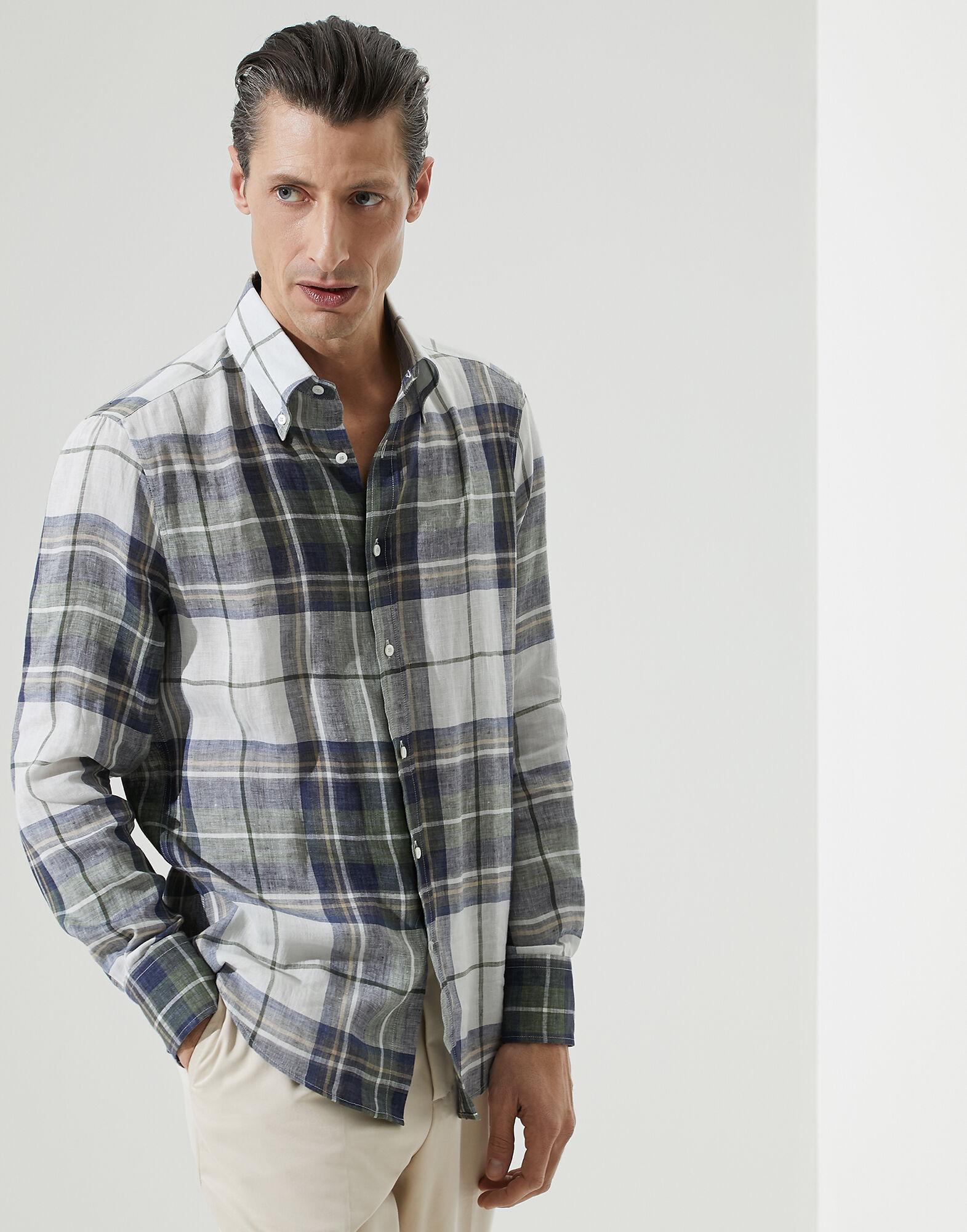YUNY Mens Britain Regular-Fit Long-Sleeve Rose Fall /& Winter Printed Longshirt Navy Blue XS