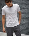 T-Shirt Pearl Grey Man Brunello Cucinelli
