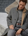 Coat Medium Grey Man Brunello Cucinelli