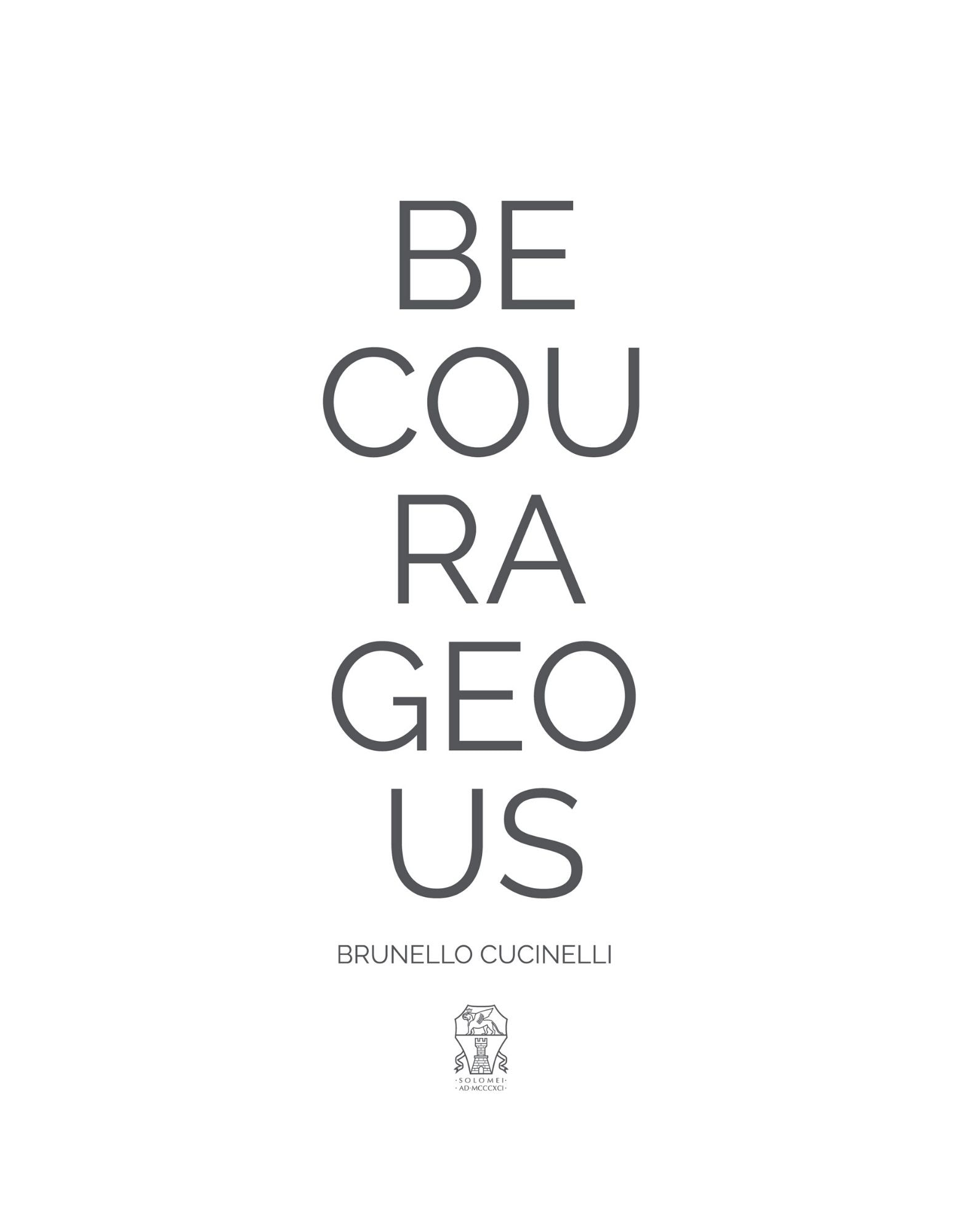 Be Courageous - Kids SS20