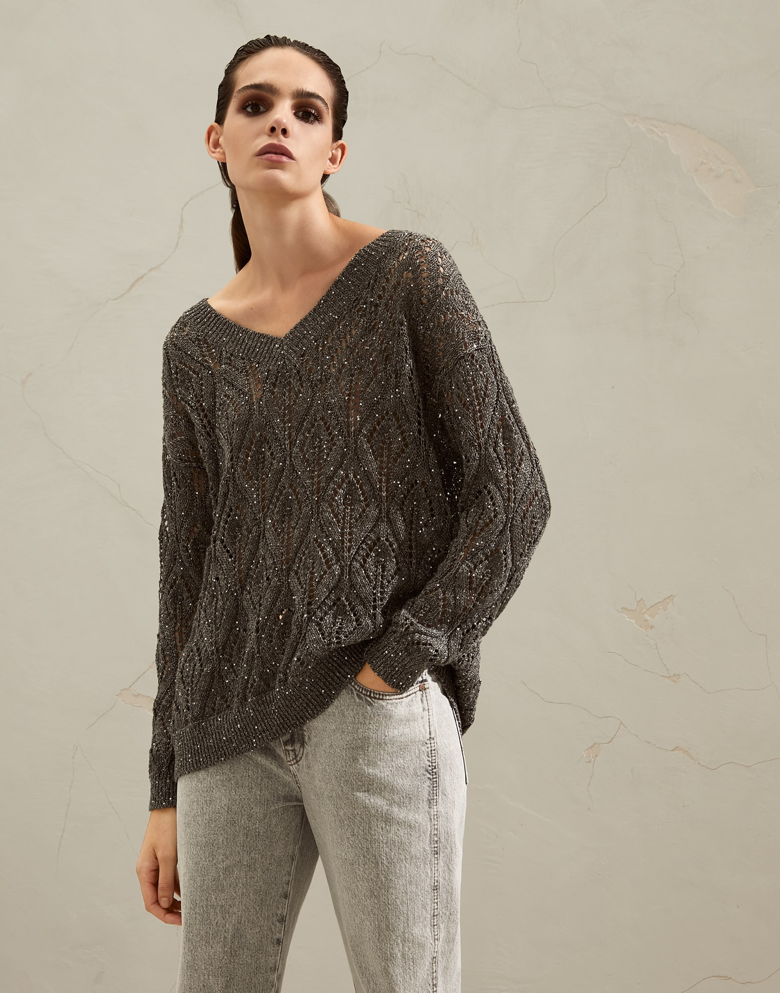 V-neck Sweater - Front view