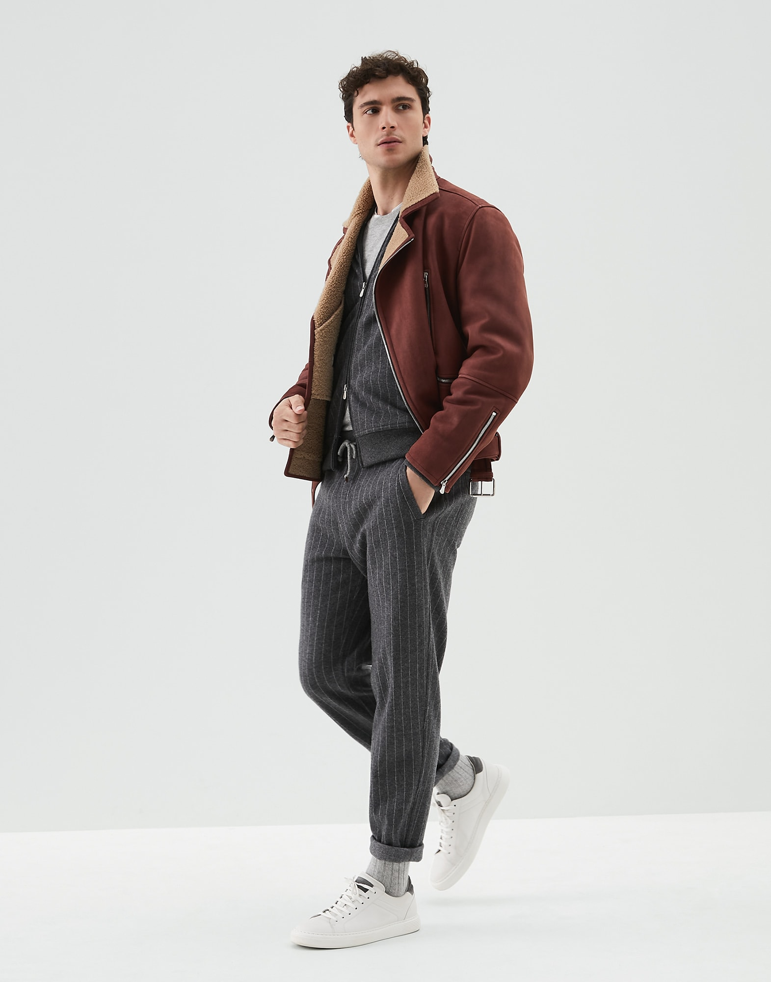 Leather Amaranth Red Man 4 - Brunello Cucinelli