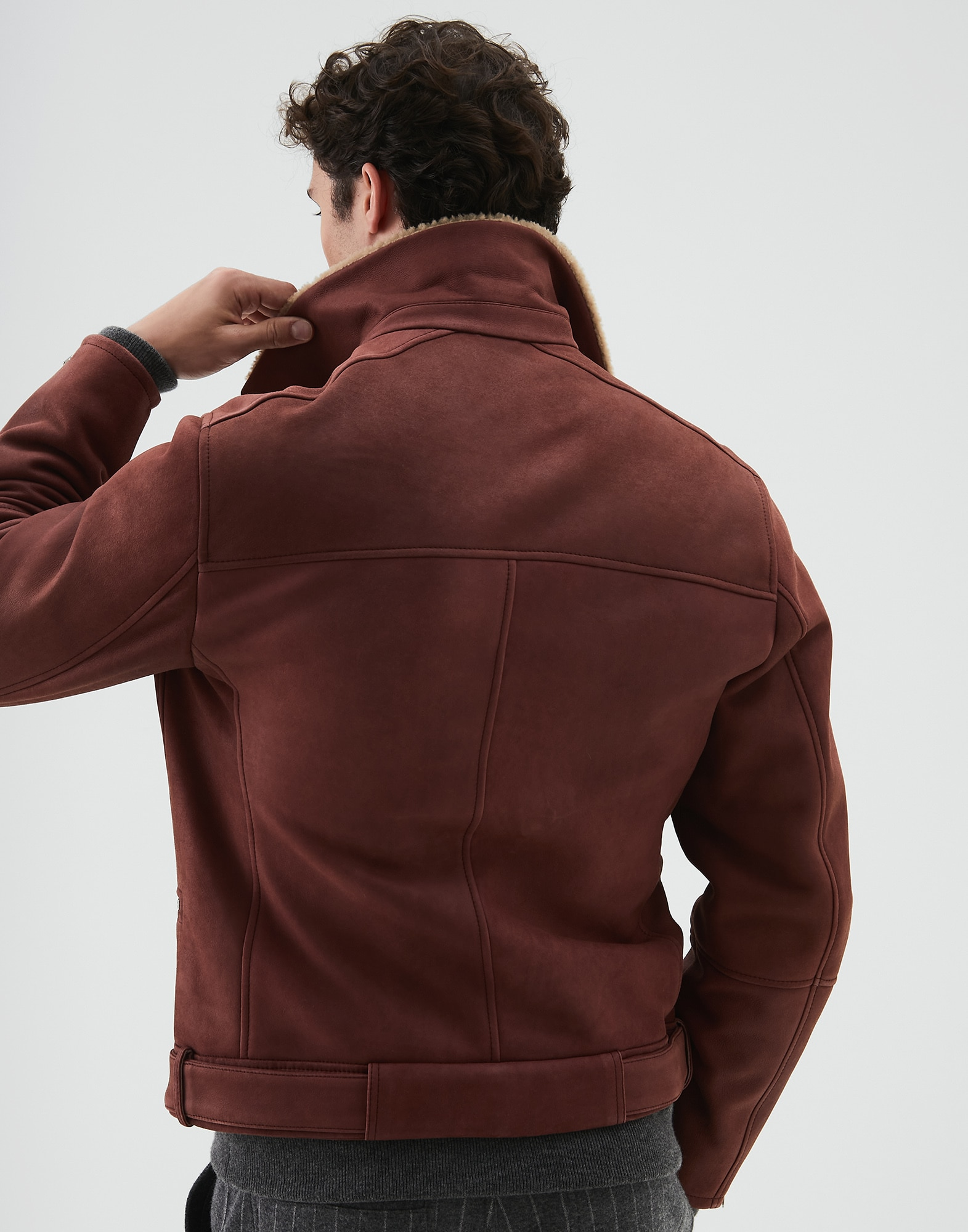 Leather Amaranth Red Man 2 - Brunello Cucinelli