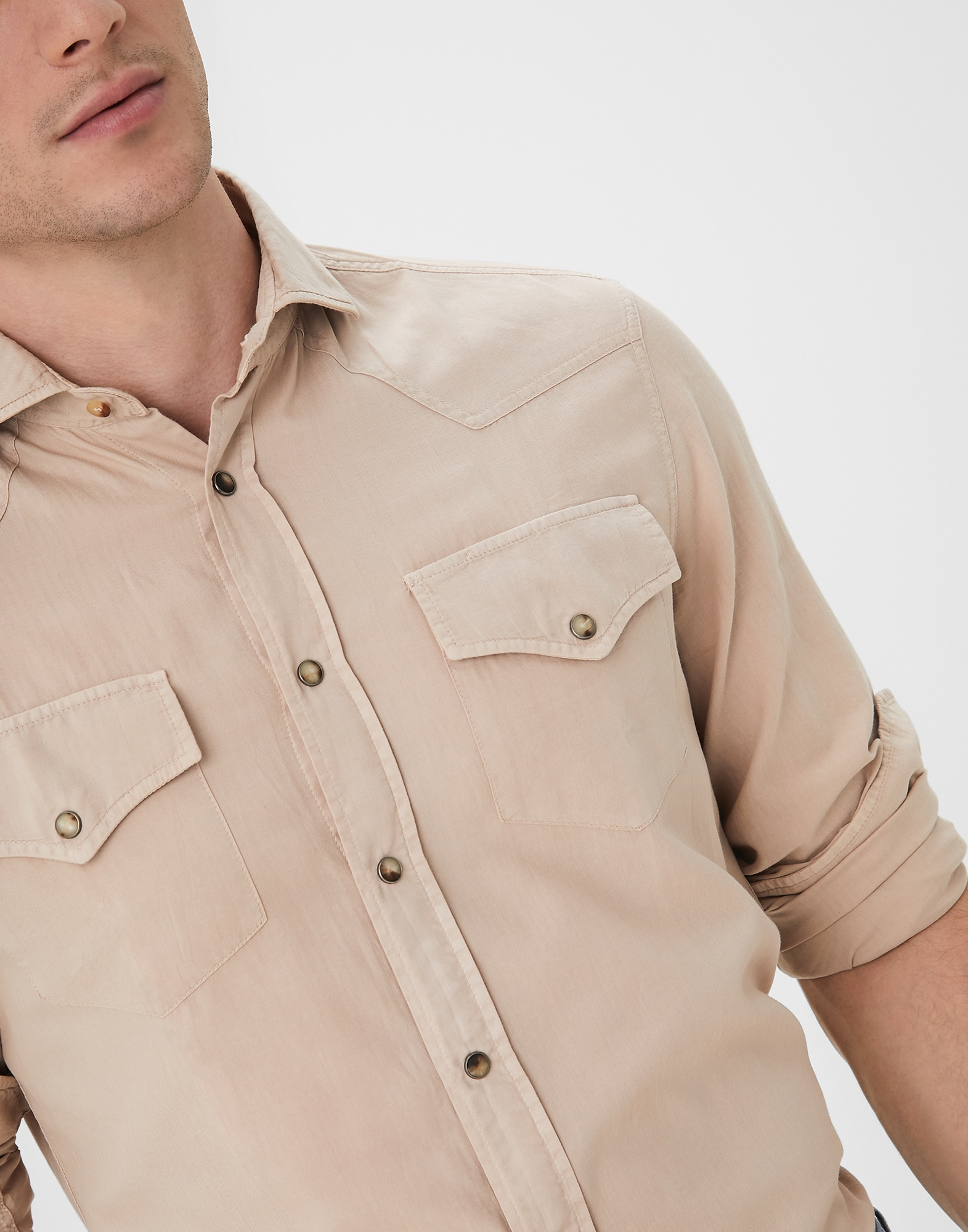 Casual Shirt Sand Man 3 - Brunello Cucinelli