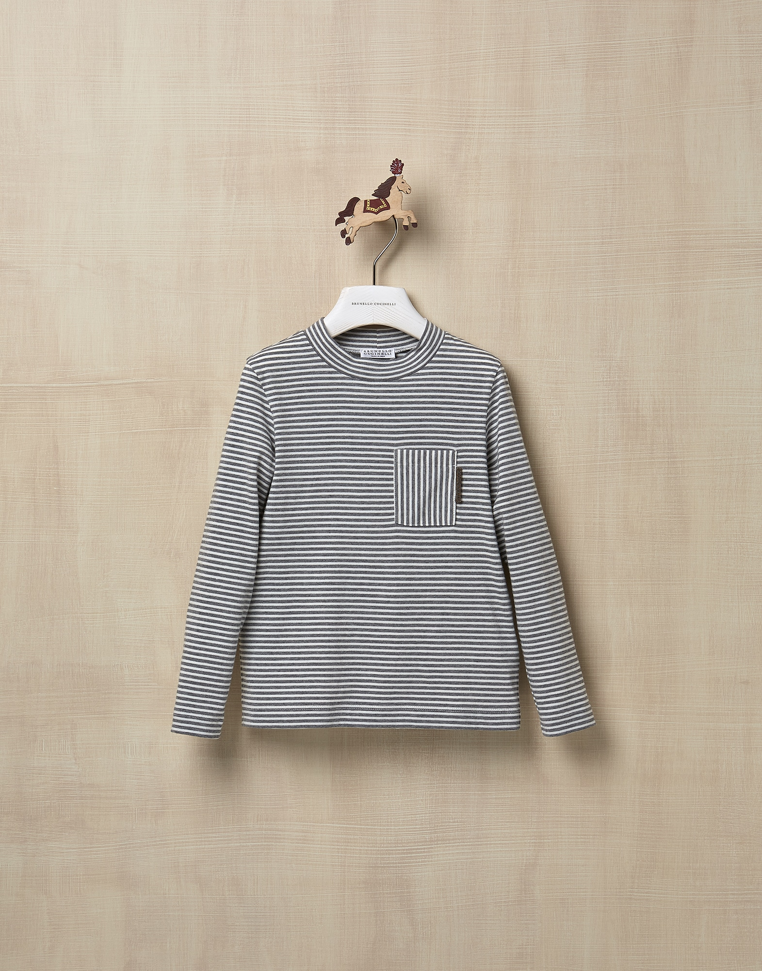 T-Shirt Medium Grey Girl 1 - Brunello Cucinelli