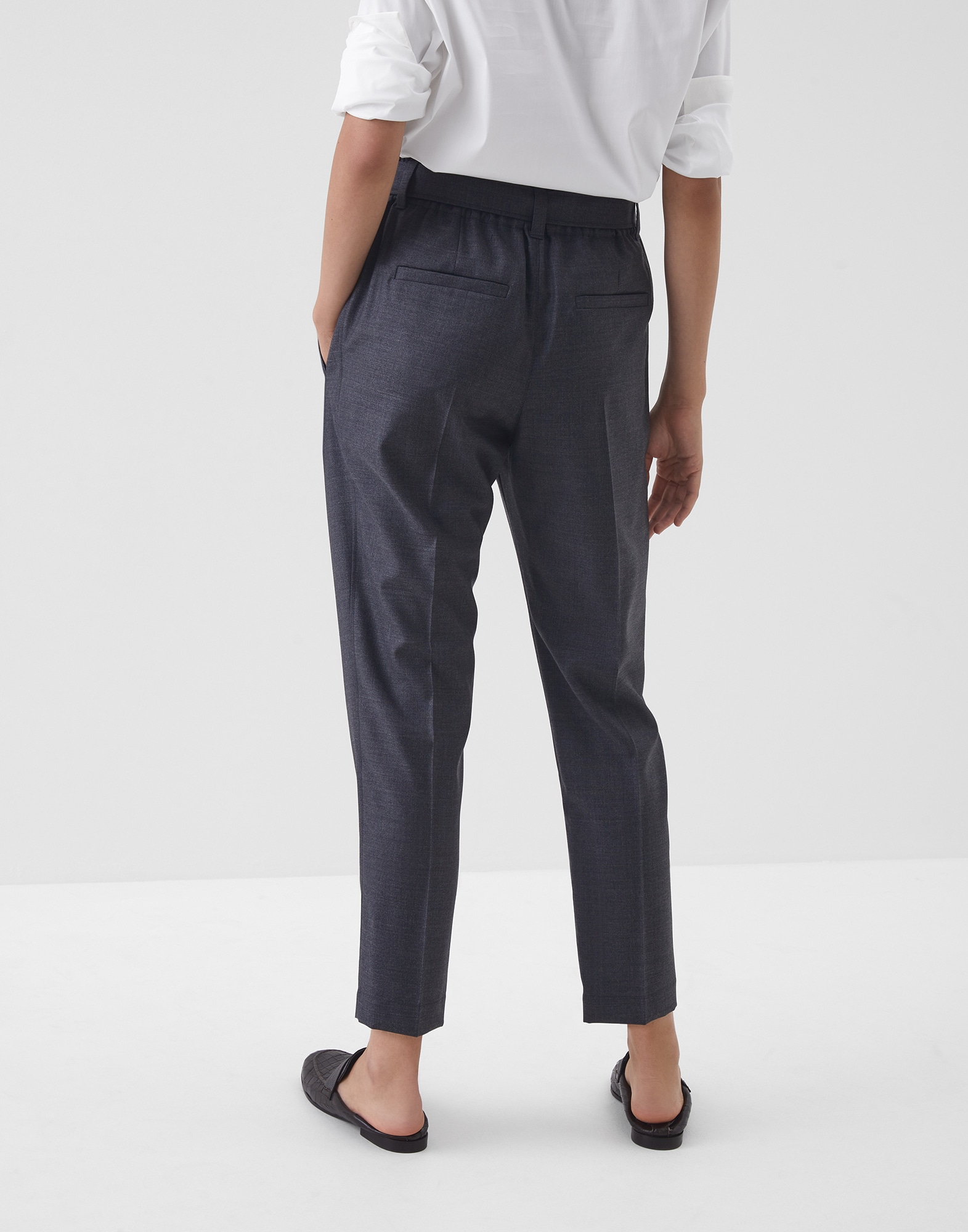 Trousers Lignite Woman 1 - Brunello Cucinelli