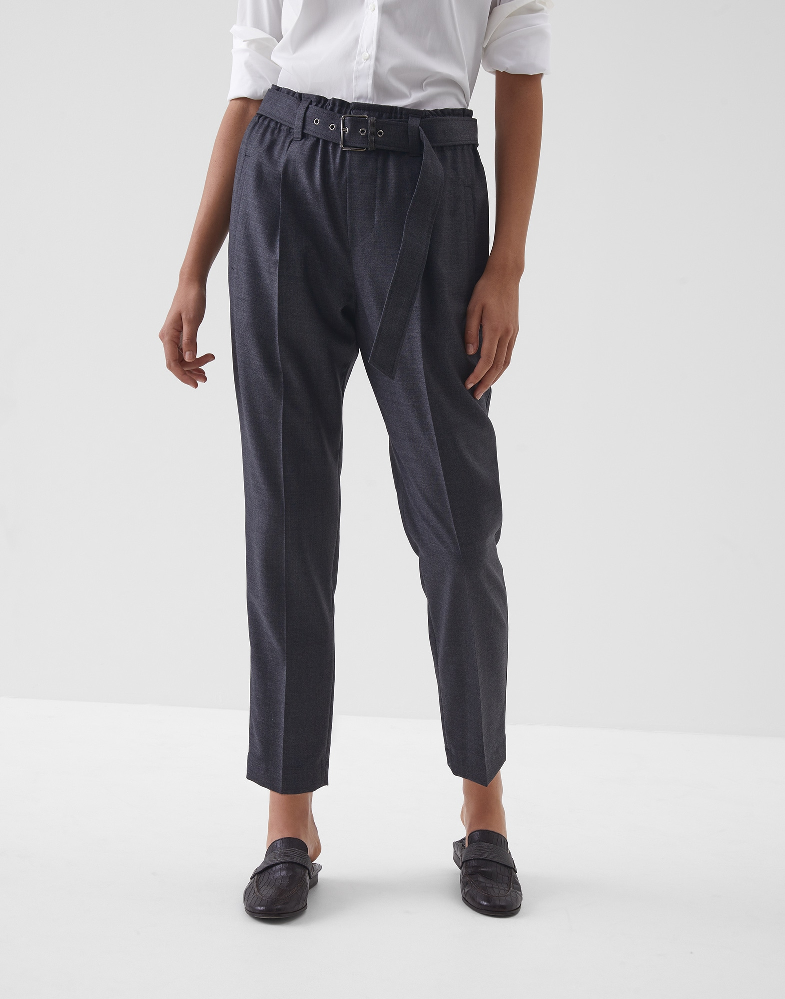 Trousers Lignite Woman 0 - Brunello Cucinelli