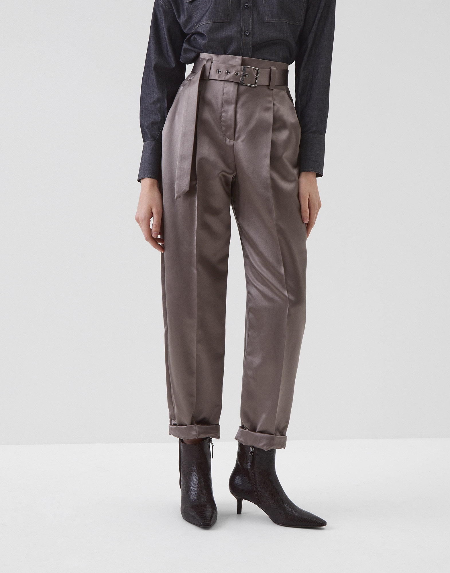 Trousers Mud Woman 0 - Brunello Cucinelli