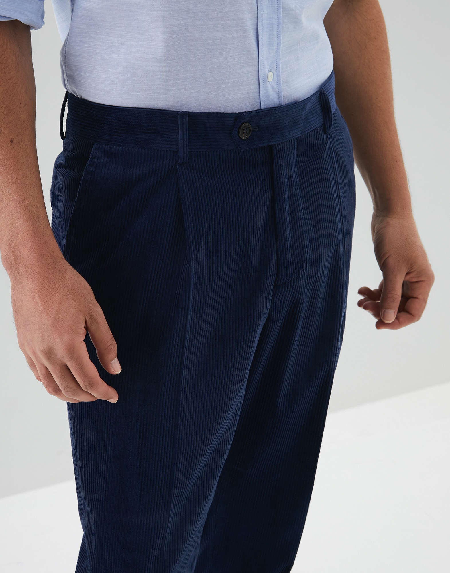 Trousers Blue Ford Man 2 - Brunello Cucinelli
