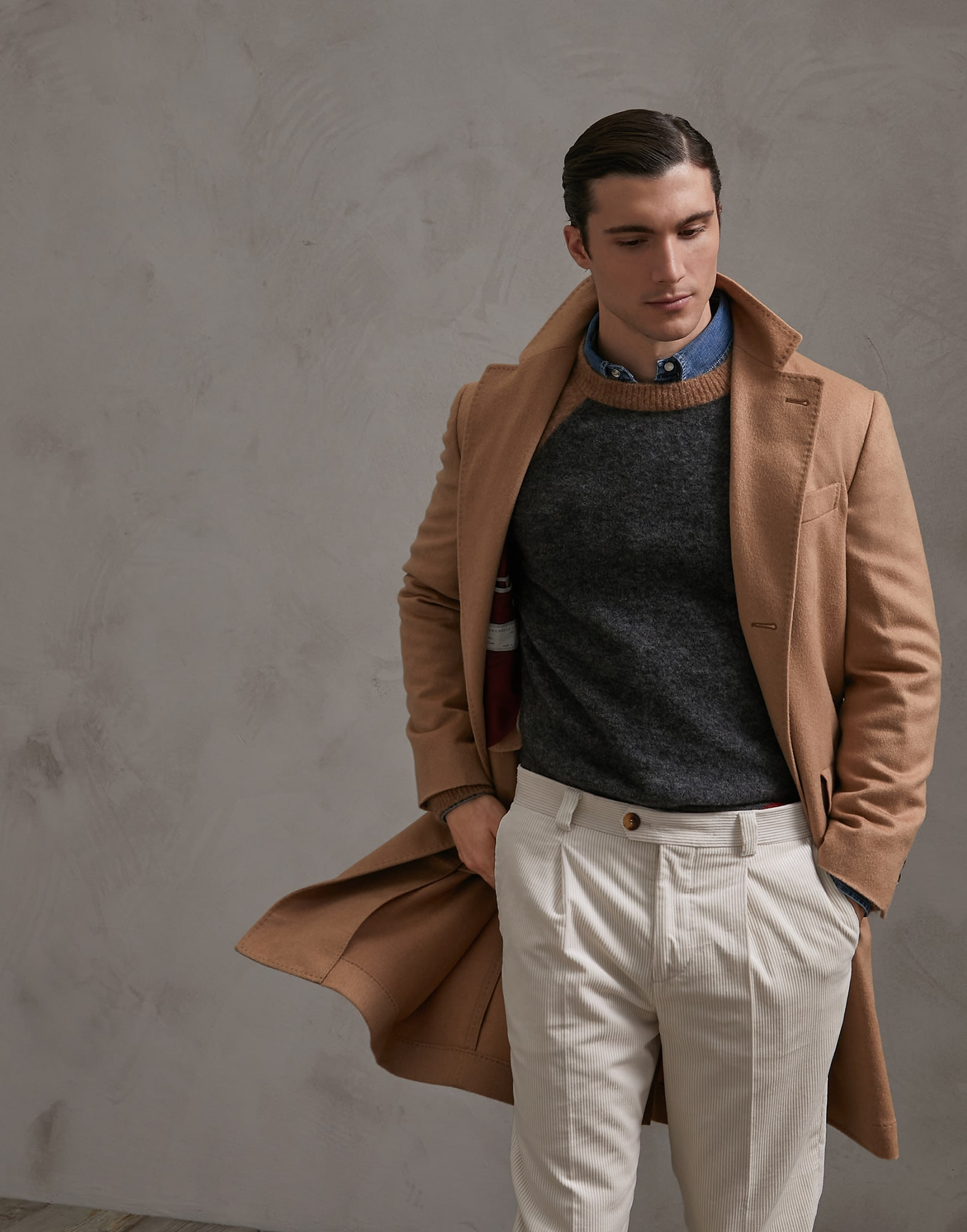 Coat Camel Man 0 - Brunello Cucinelli