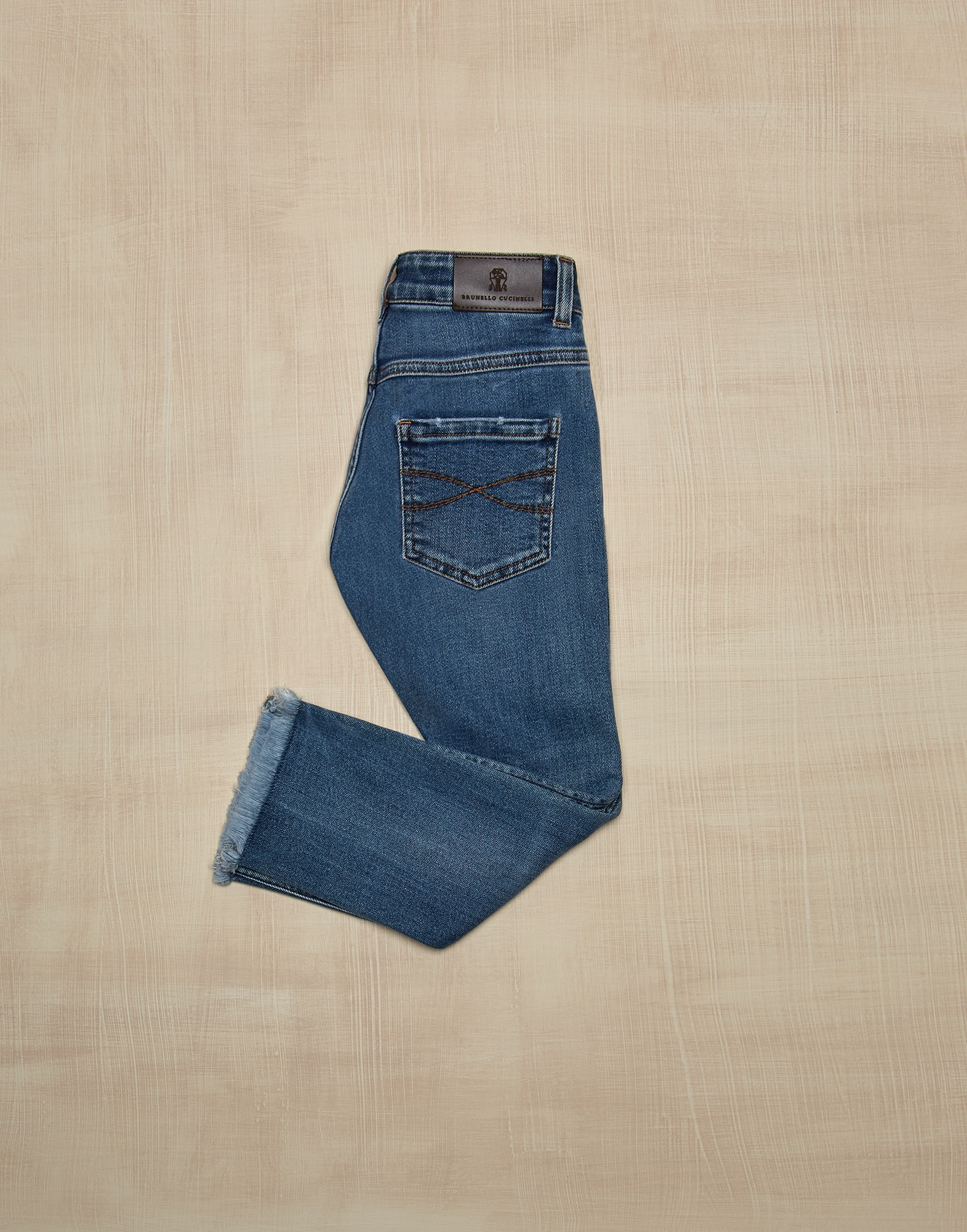 Denim Trousers Medium Denim Girl 1 - Brunello Cucinelli