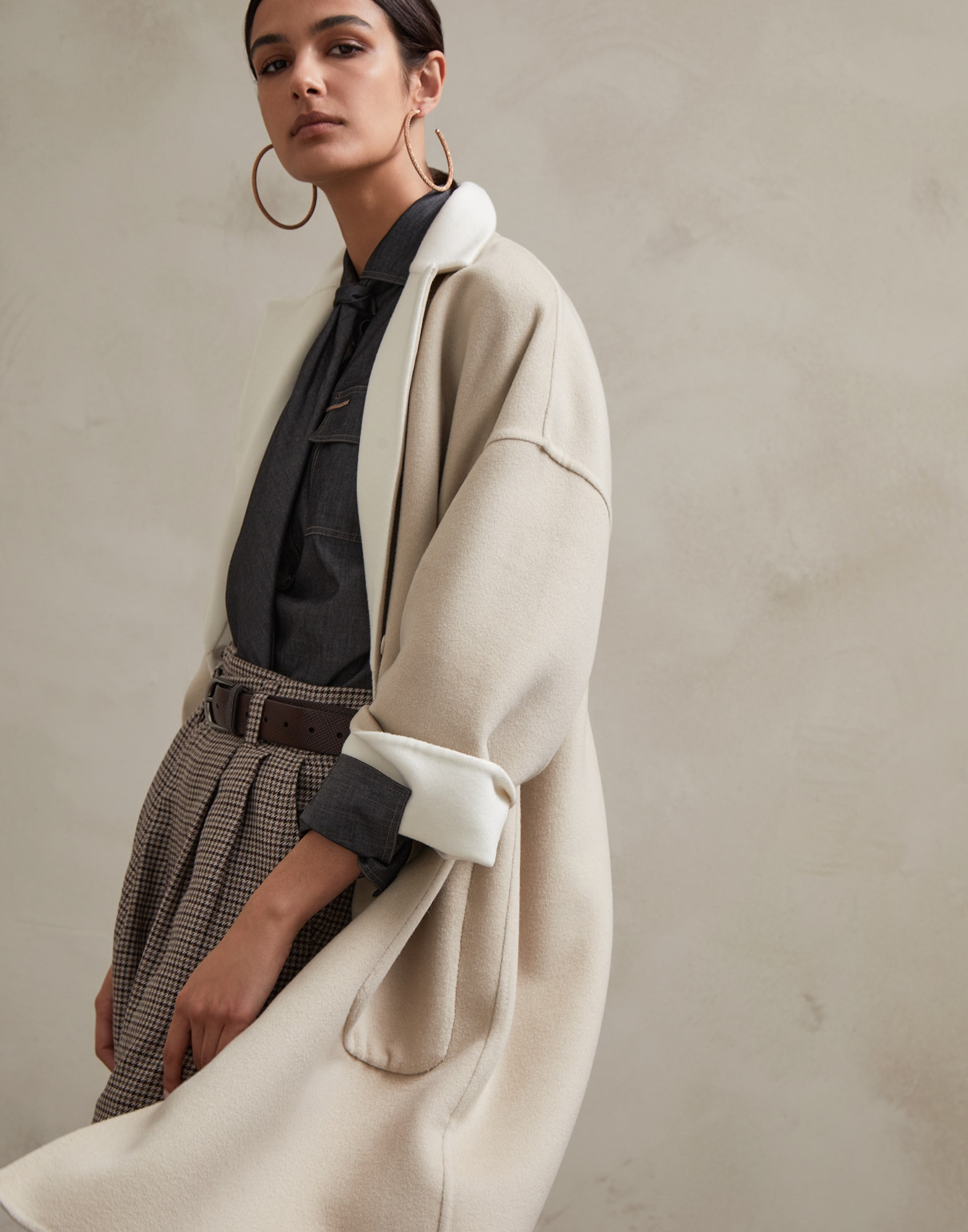 Coat Natural Woman 0 - Brunello Cucinelli