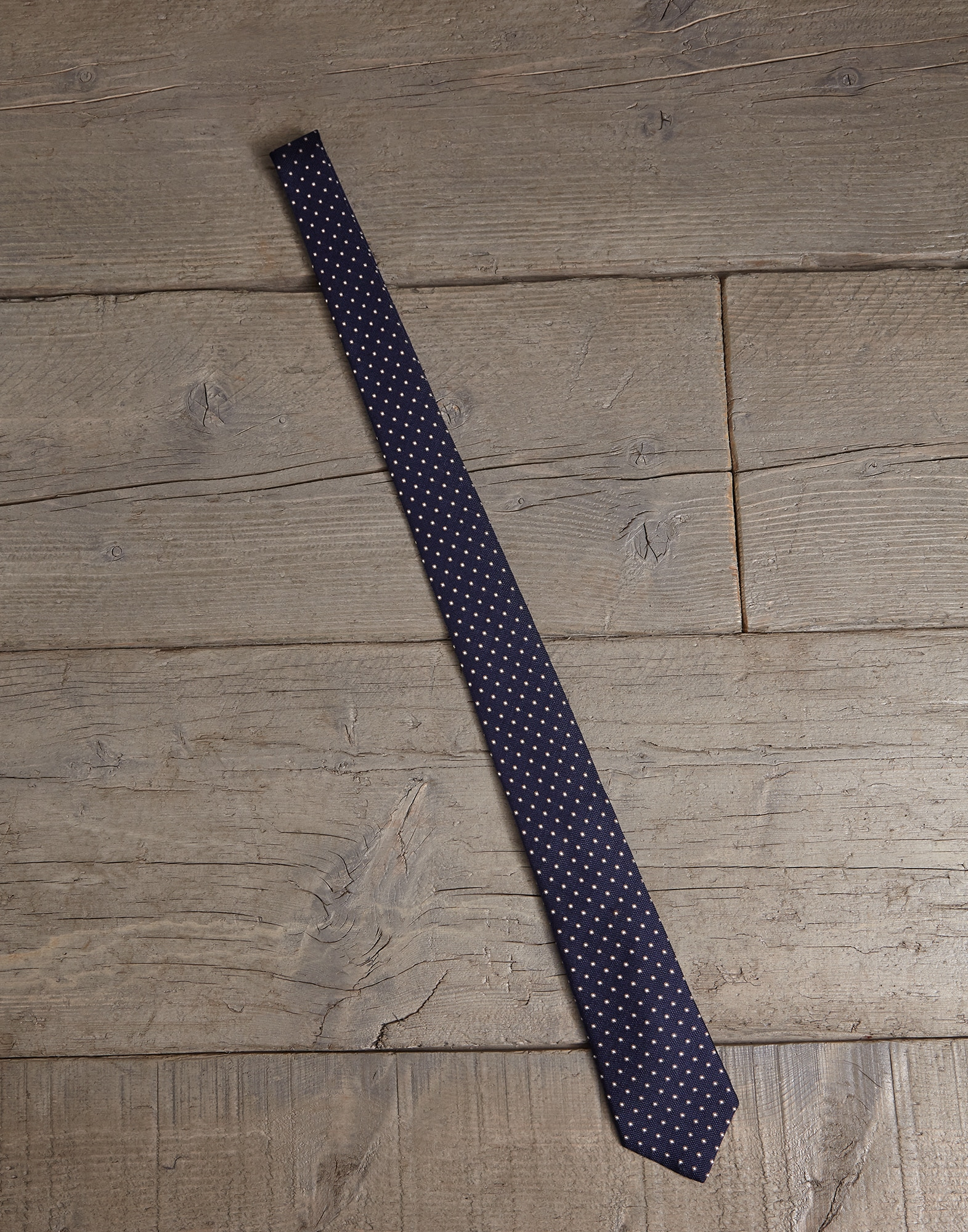 Tie Navy Blue Man 0 - Brunello Cucinelli