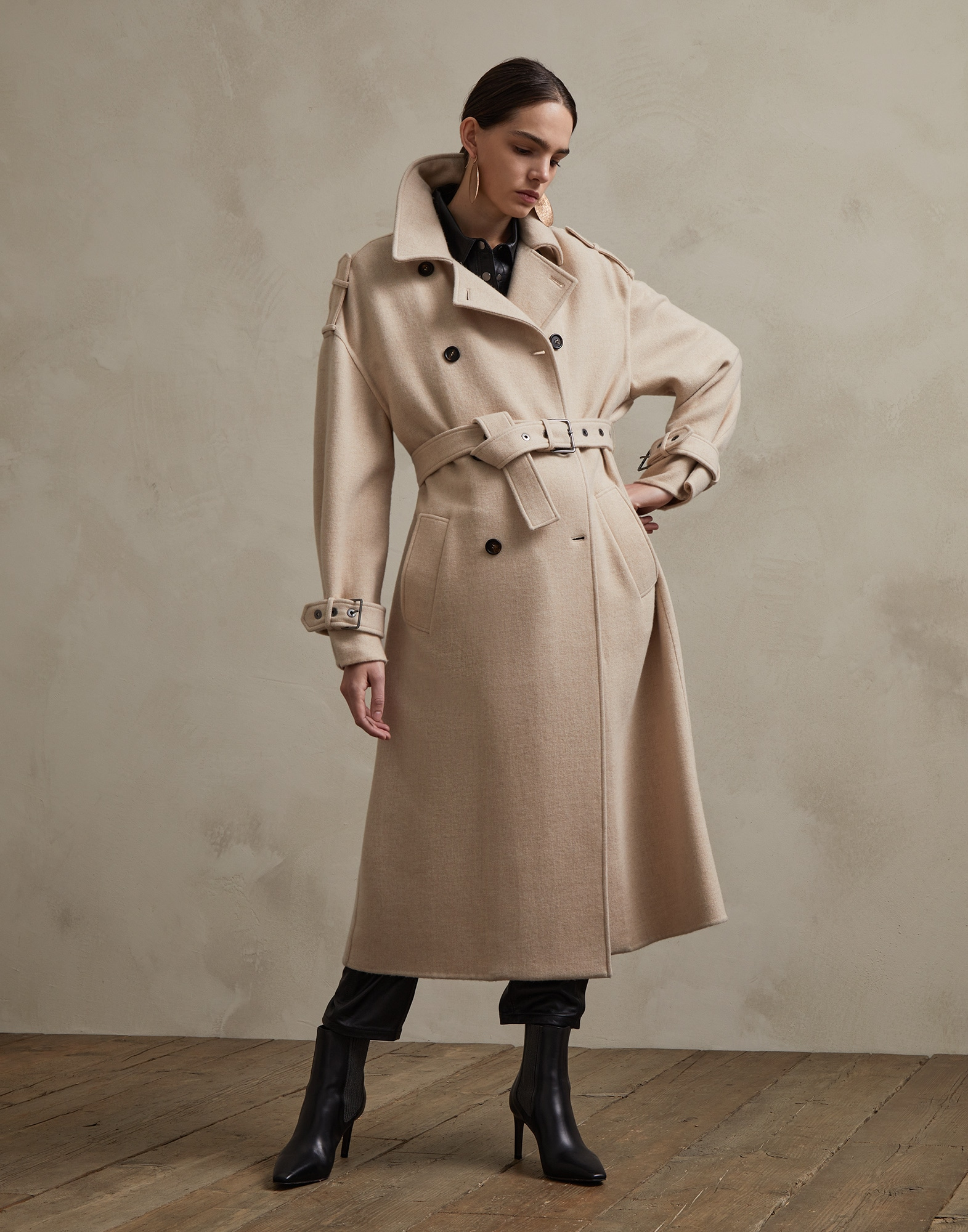 Coat Beige Woman 0 - Brunello Cucinelli