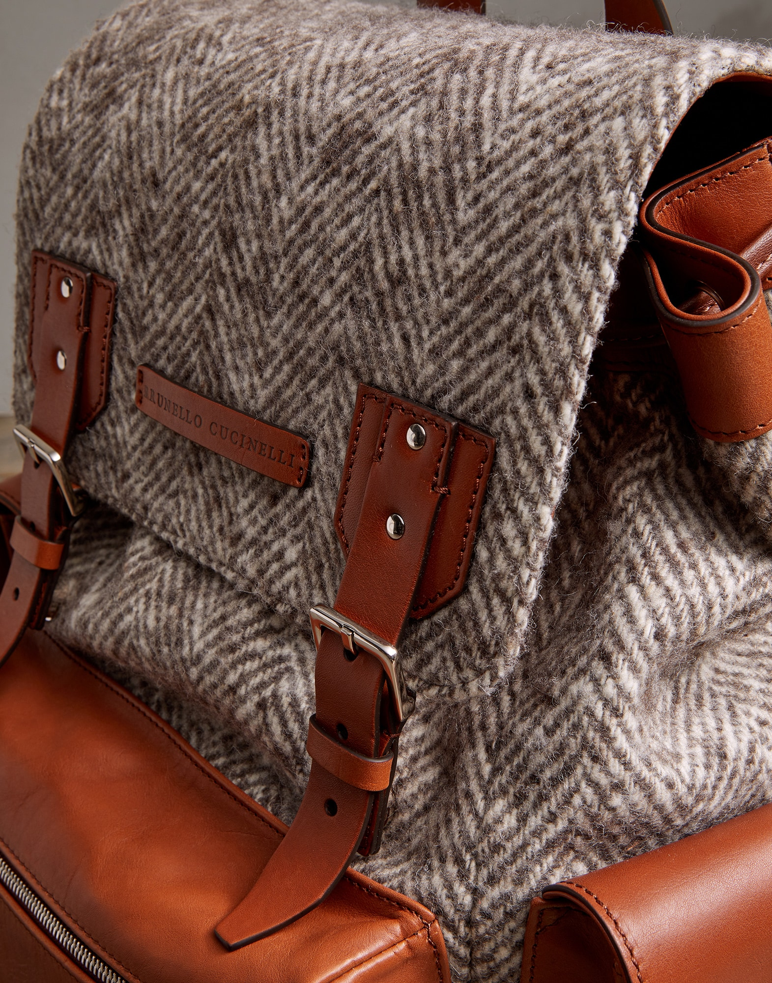 Backpack Brown Man 3 - Brunello Cucinelli