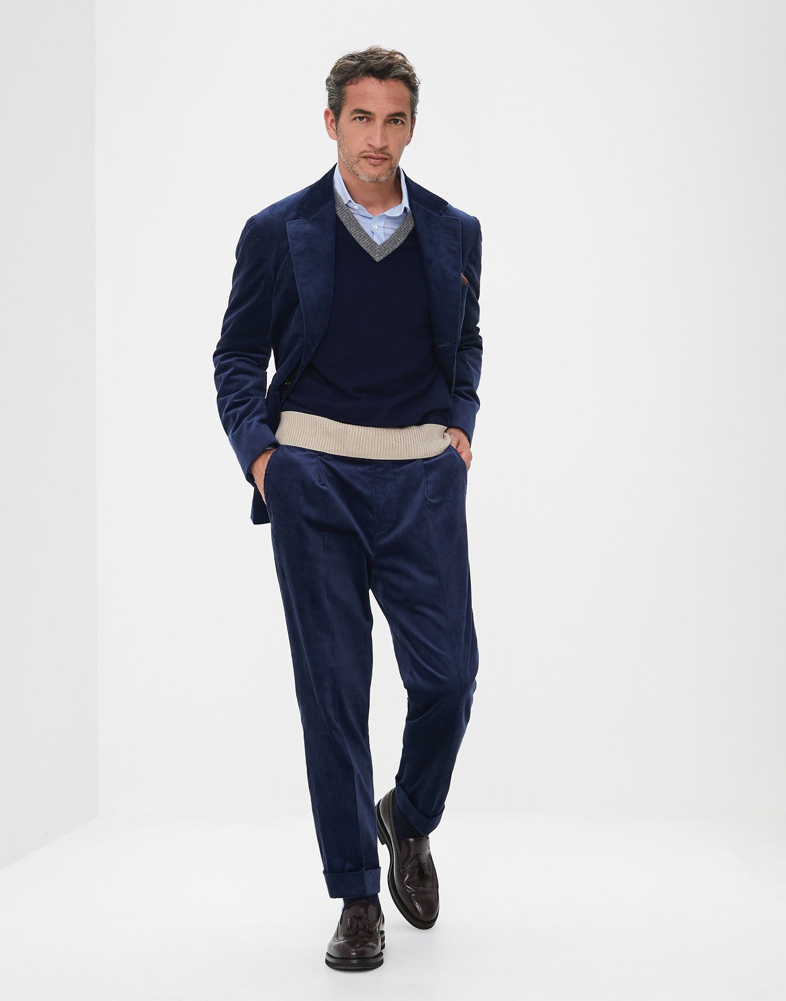 Trousers Blue Ford Man 3 - Brunello Cucinelli