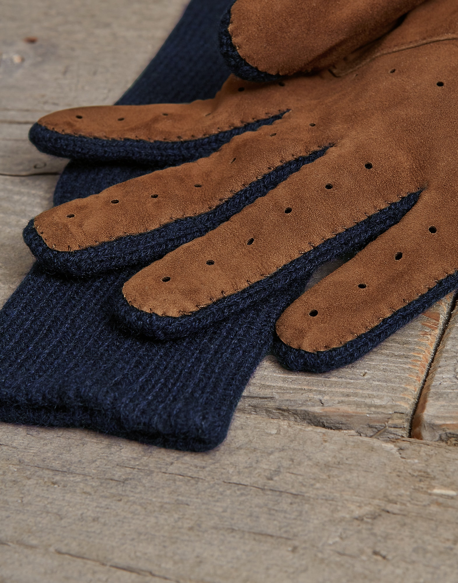 Gloves Navy Blue Man 1 - Brunello Cucinelli
