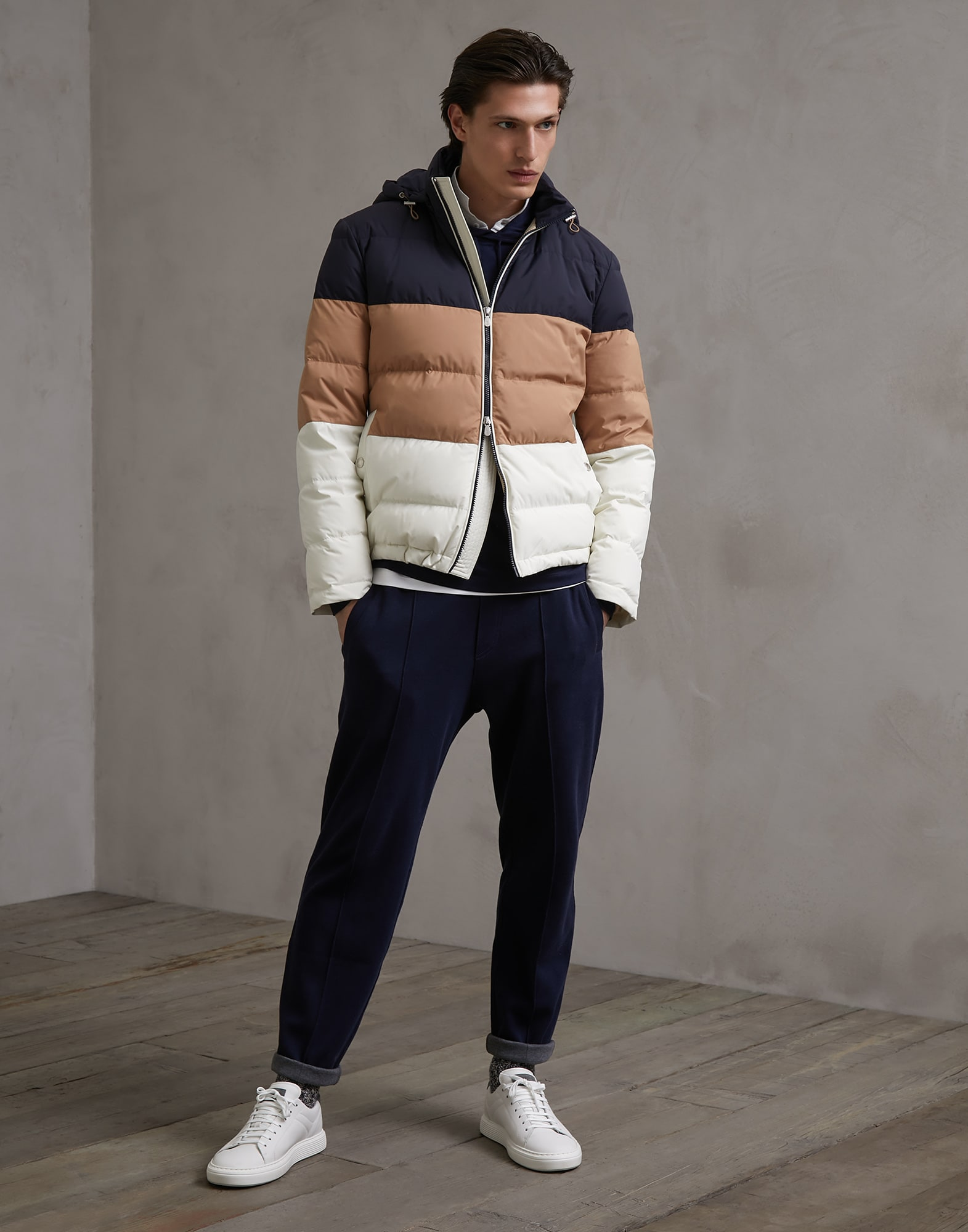 Down Jacket Off-White Man 3 - Brunello Cucinelli