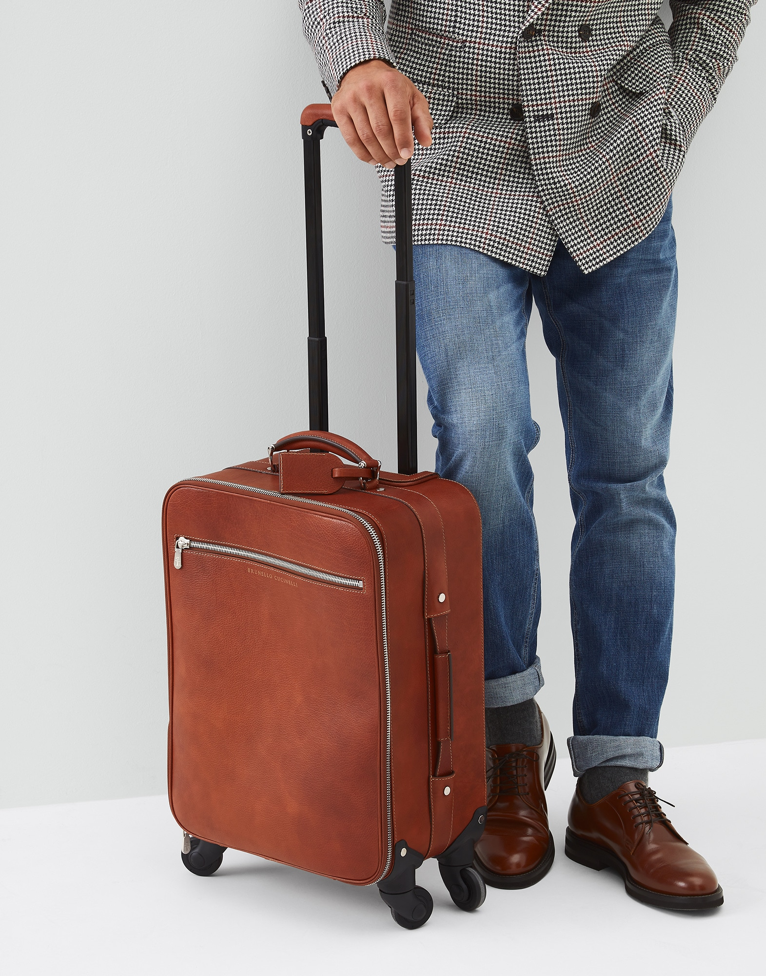 Wheeled Luggage Rum Man 0 - Brunello Cucinelli