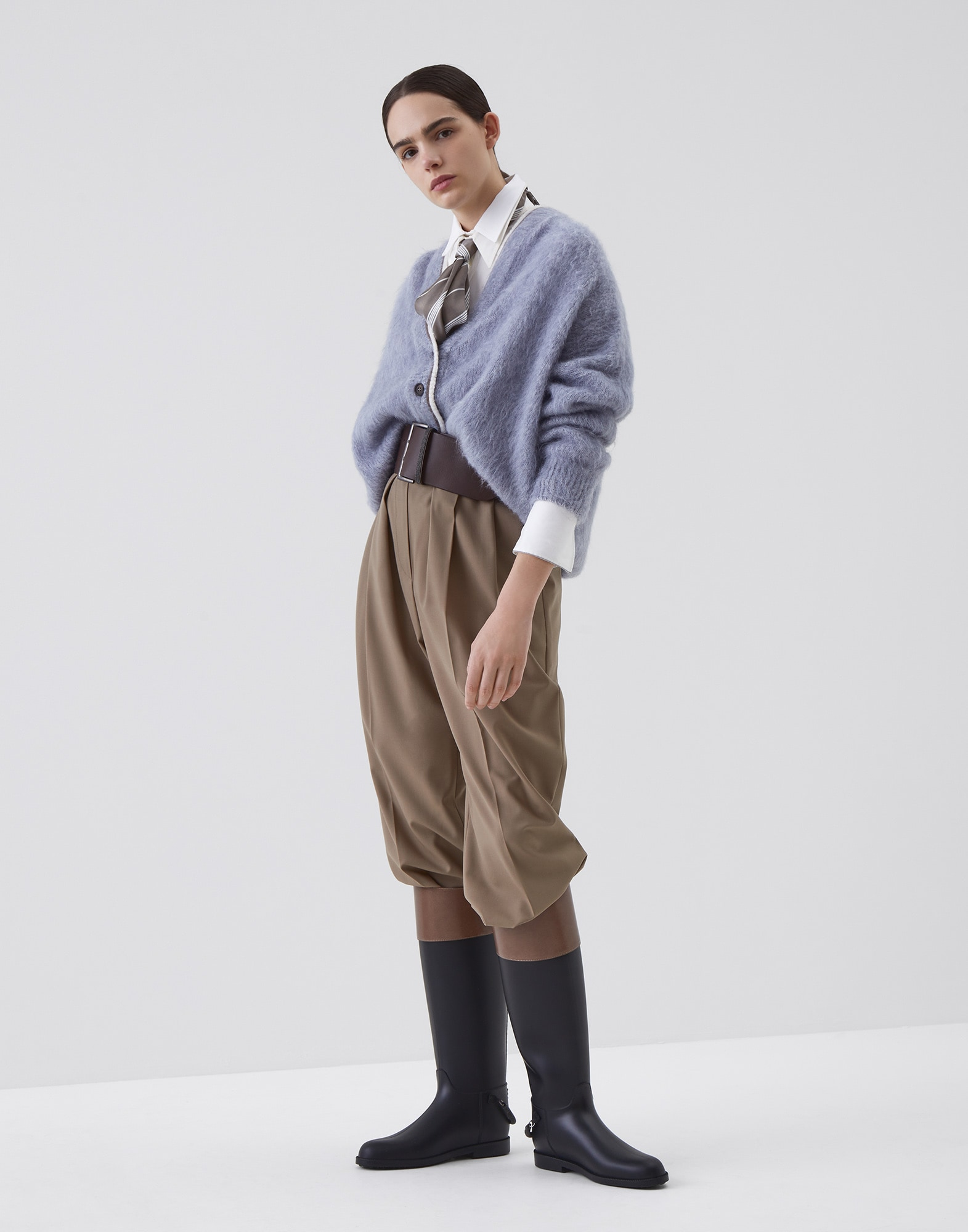 Cardigan Sky Blue Woman 3 - Brunello Cucinelli