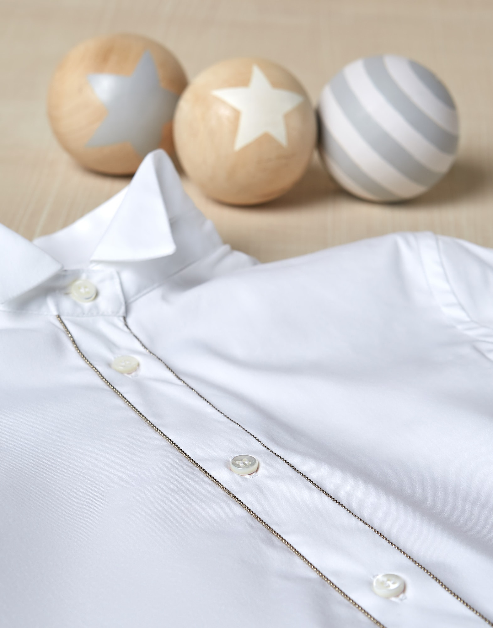 Shirt White Girl 0 - Brunello Cucinelli