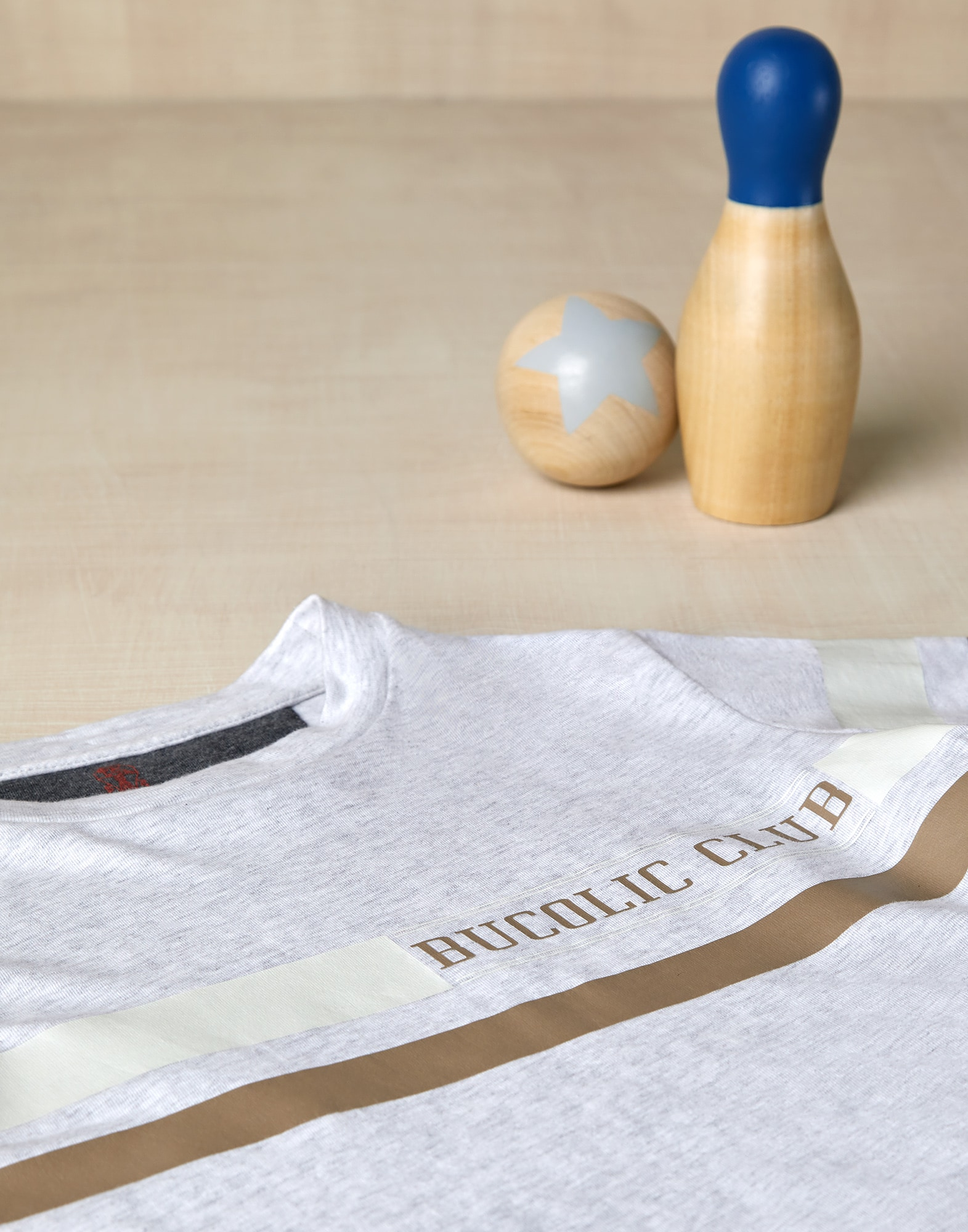 T-Shirt Pearl Grey Boy 2 - Brunello Cucinelli