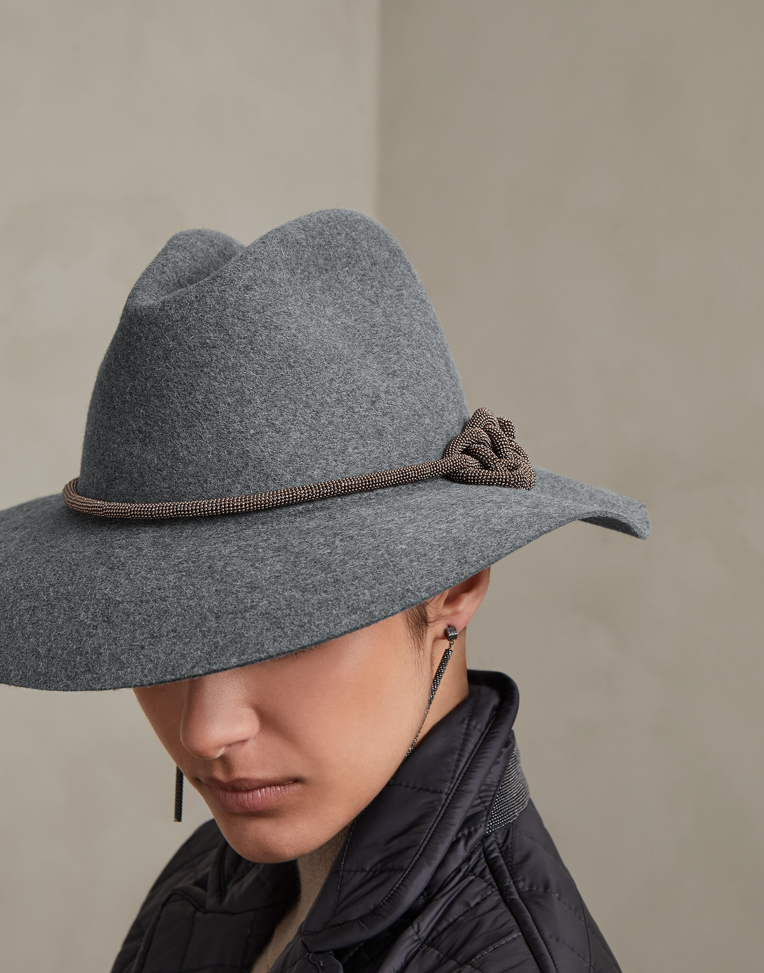 Hat Medium Grey Woman 2 - Brunello Cucinelli