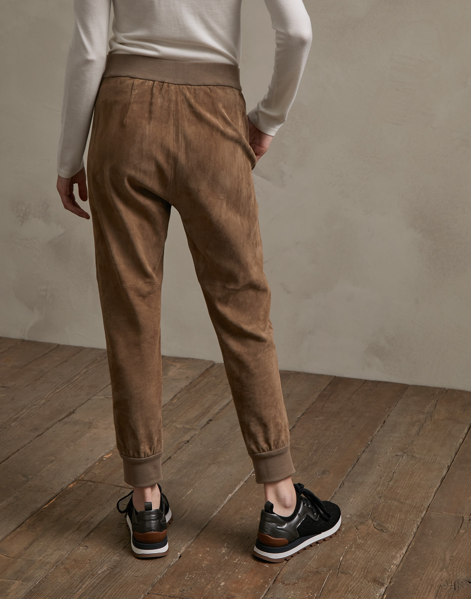 Leather Trousers Brown Woman 1 - Brunello Cucinelli