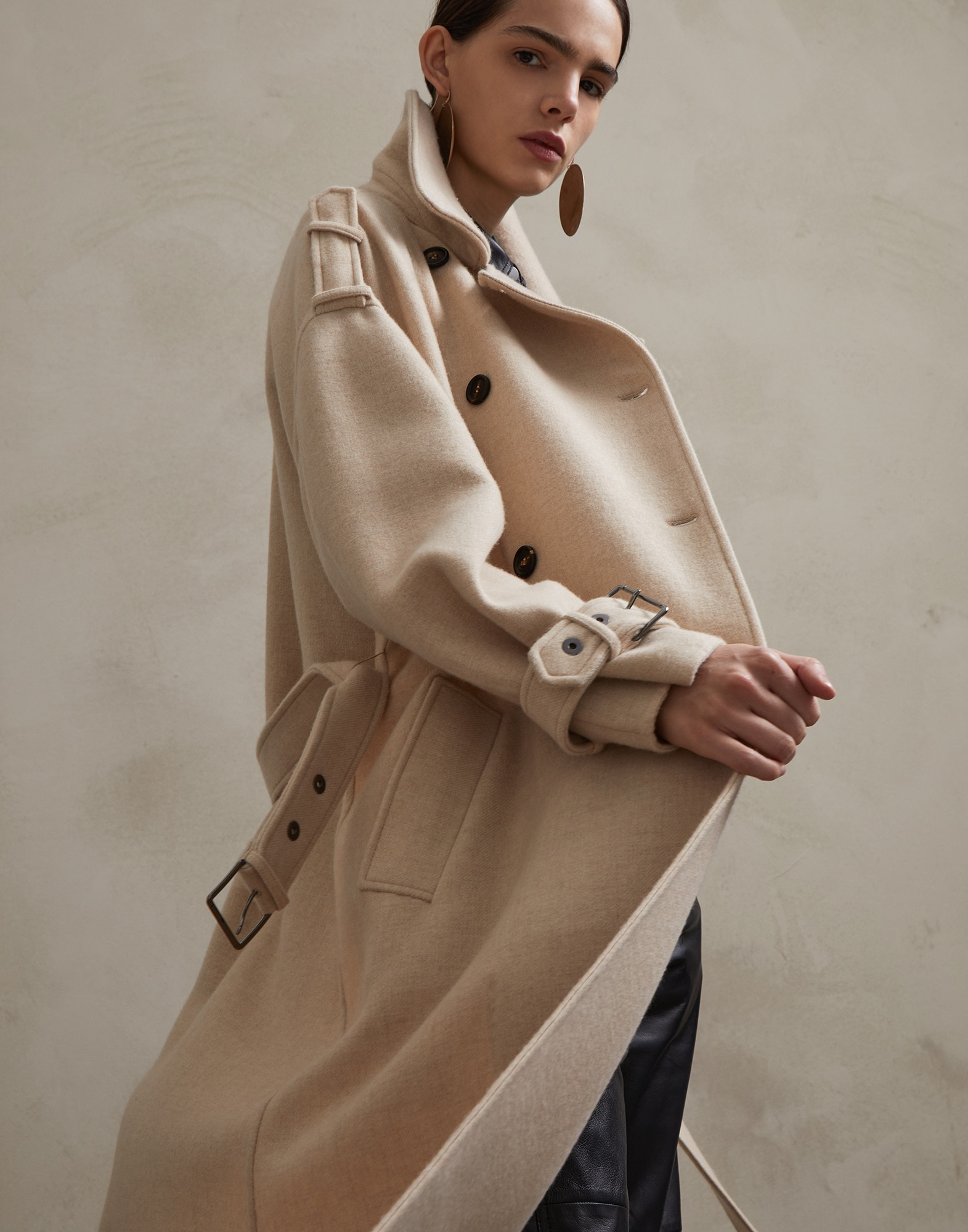 Coat Beige Woman 4 - Brunello Cucinelli