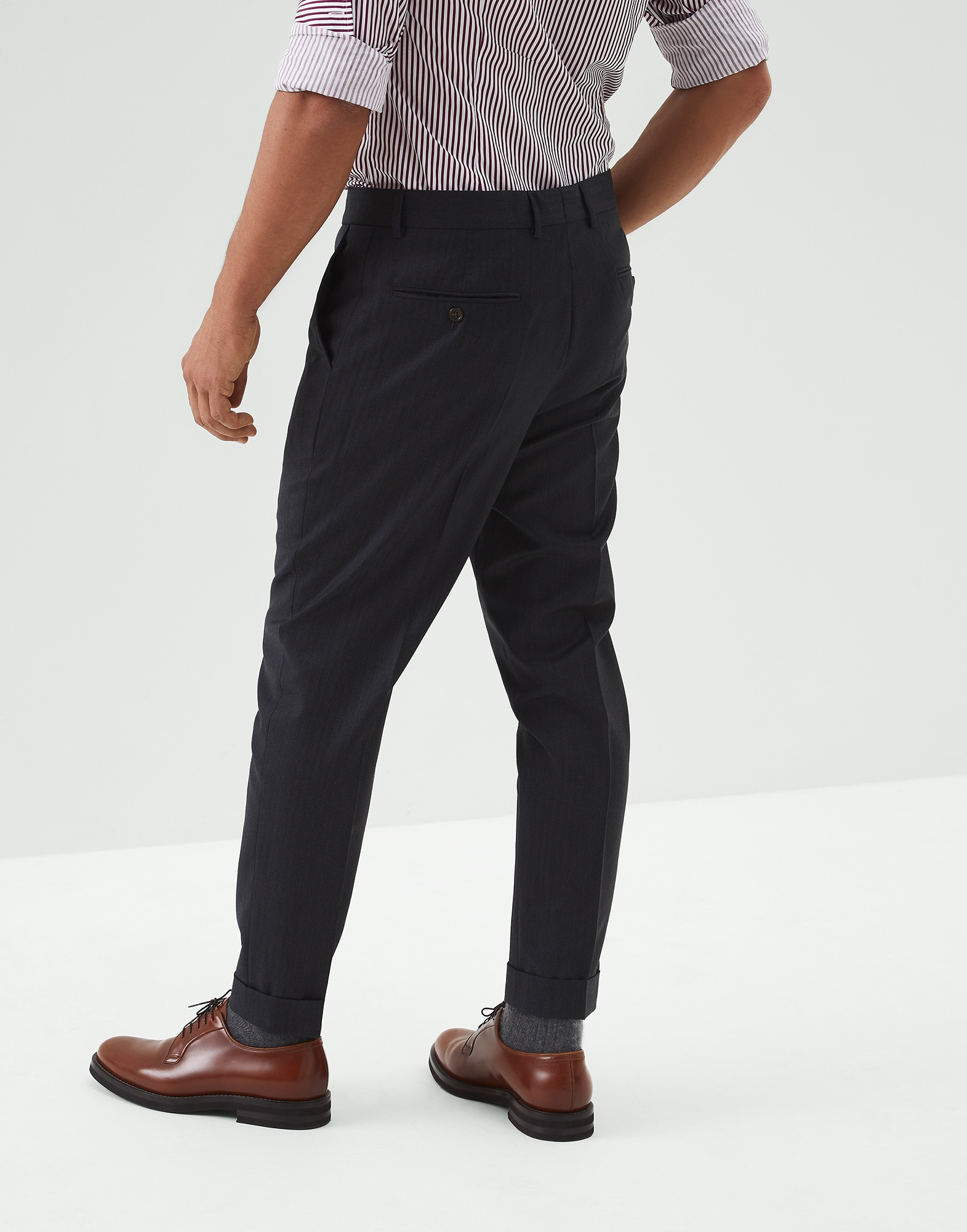 Trousers Anthracite Man 1 - Brunello Cucinelli