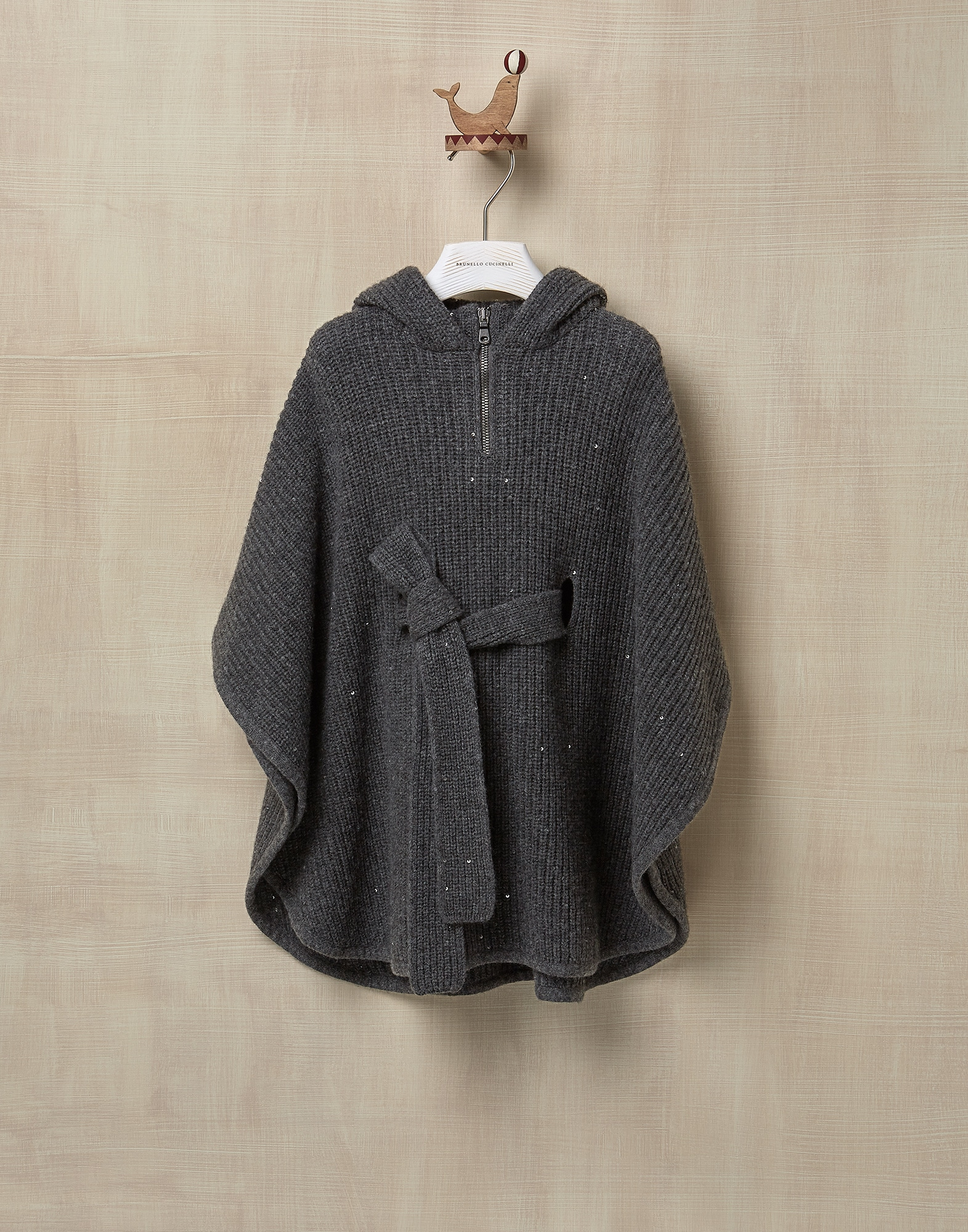 Poncho Lead Girl 0 - Brunello Cucinelli